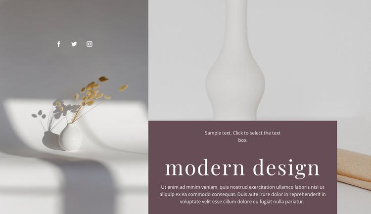 Handmade vases Website Template