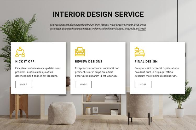 Interior design services Joomla Template
