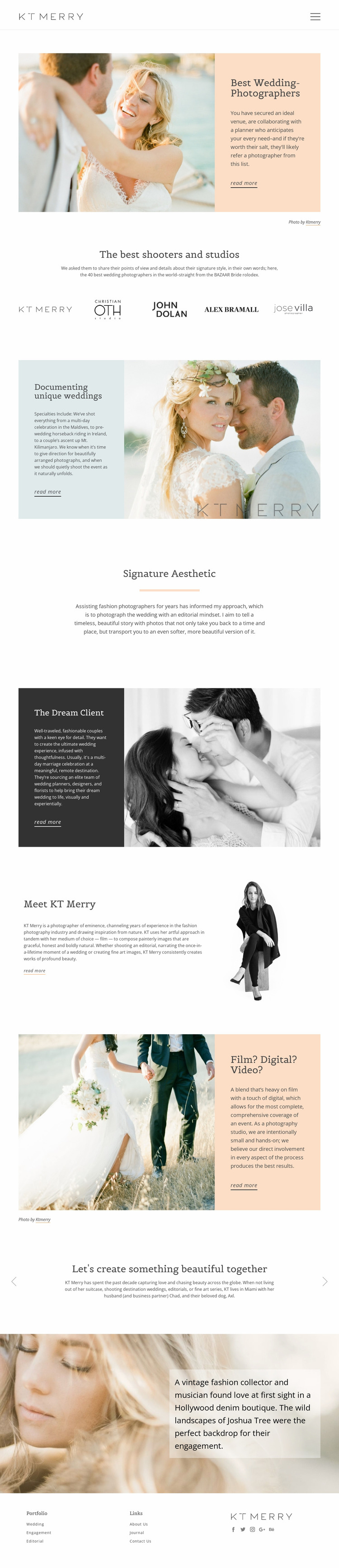 Shooters for special wedding Website Mockup