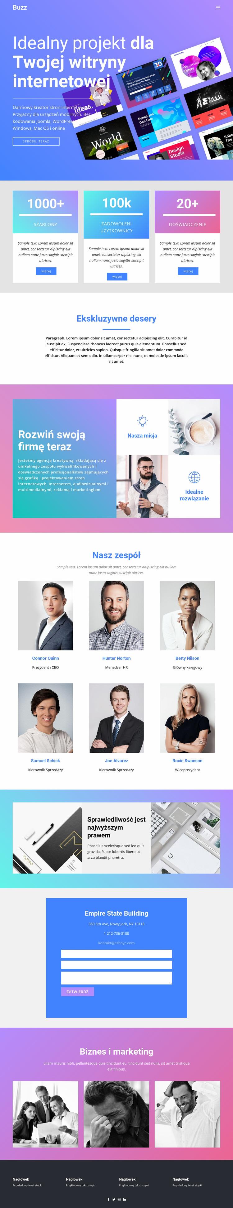 Projektuj strony internetowe dla biznesu Szablon Joomla
