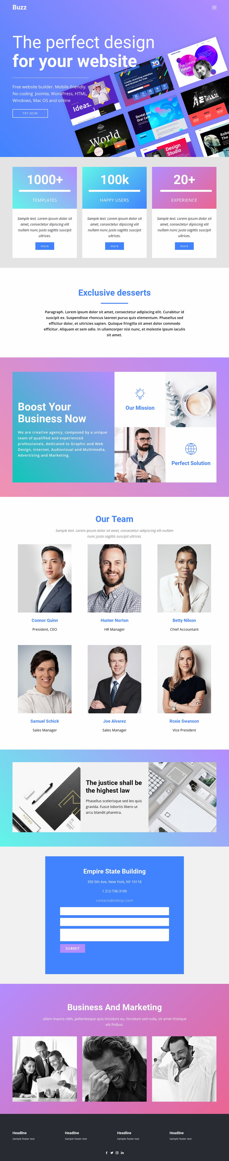 Design websites for business Web Page Designer