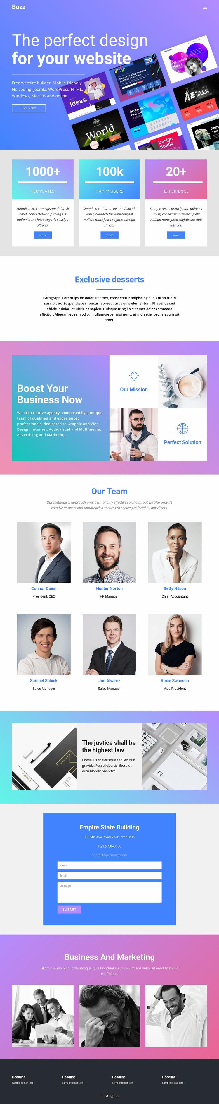 Design websites for business Landing Page