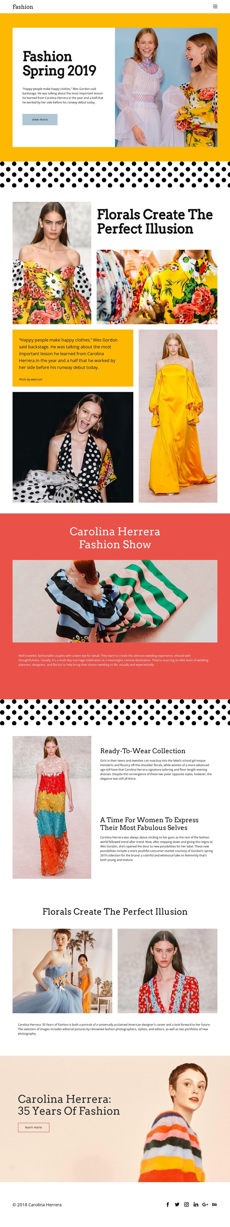 Fashion Spring CSS Template