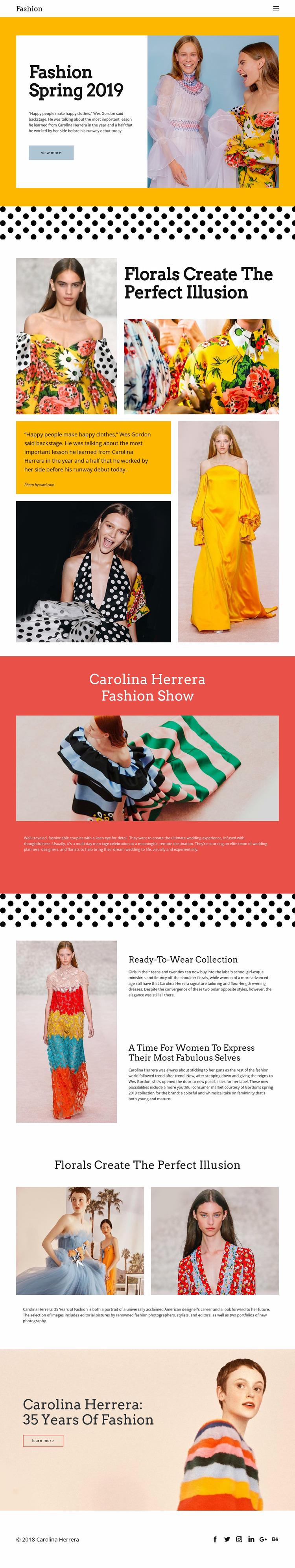Fashion Spring Website Mockup