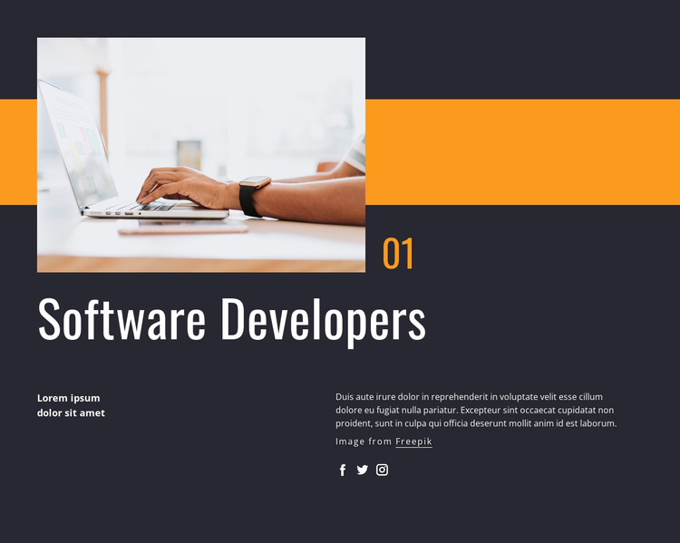 Software developers HTML Template