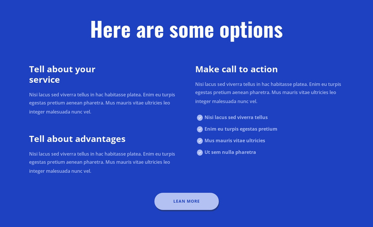 Here are some options One Page Template