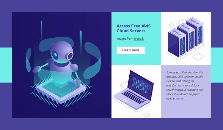 Cloud VPS hosting Website Builder Templates