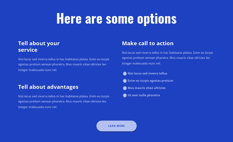 Here are some options Website Template