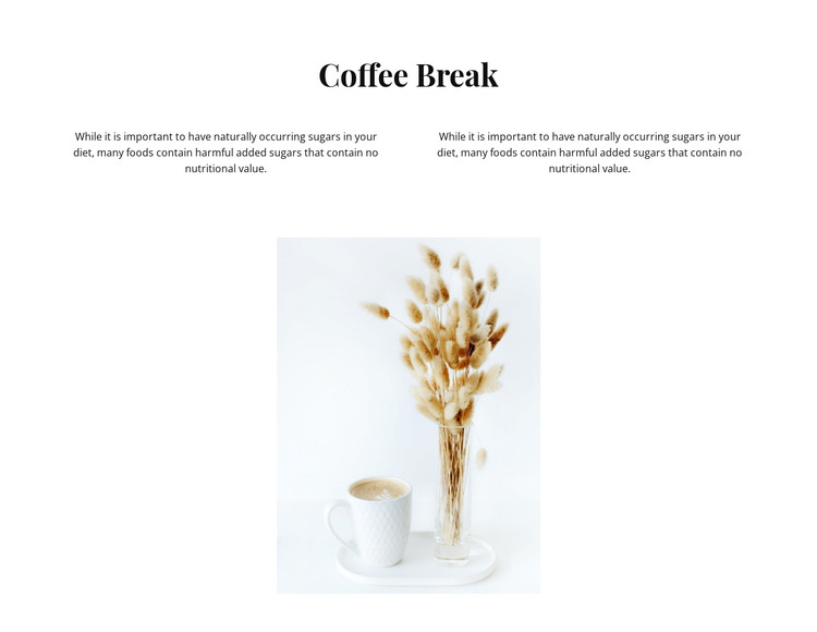Break for delicious coffee HTML Template