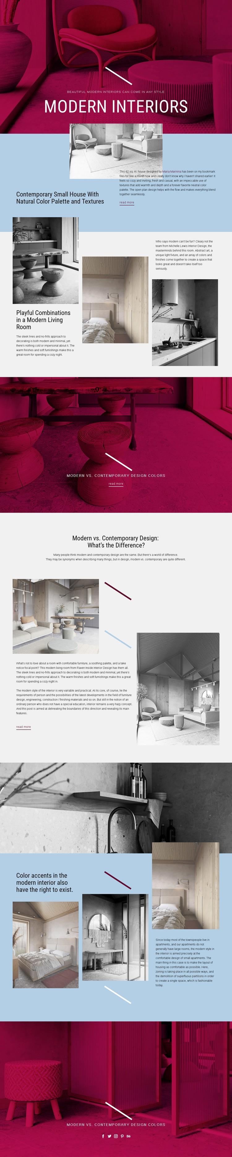 Modern Interiors Static Site Generator