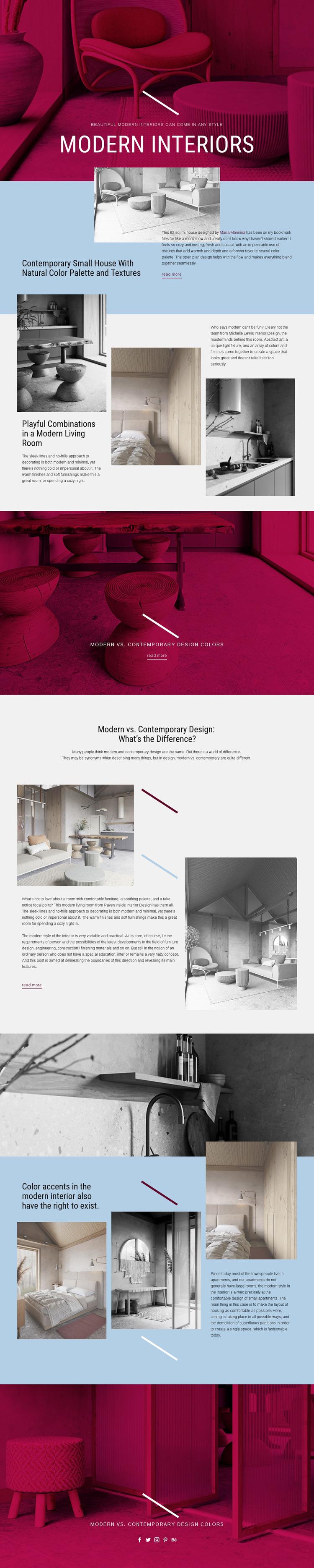 Modern Interiors Web Page Design