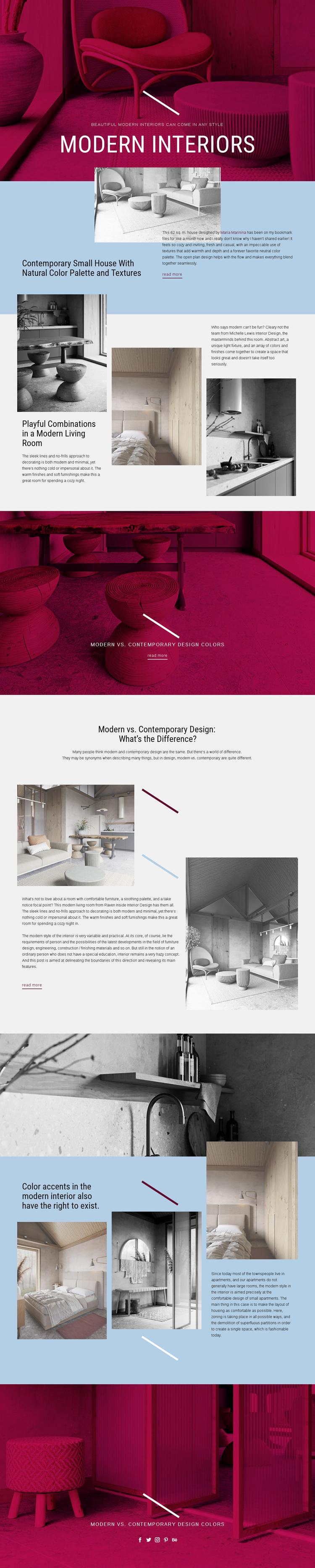 Modern Interiors Website Builder Software