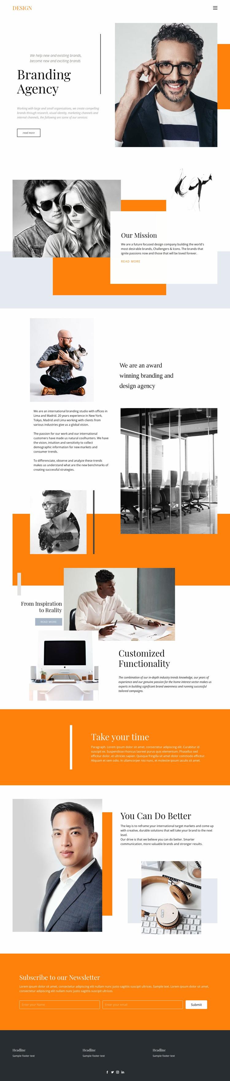 Exiting agency business Website Design