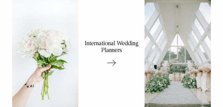 Wedding decorator Website Template