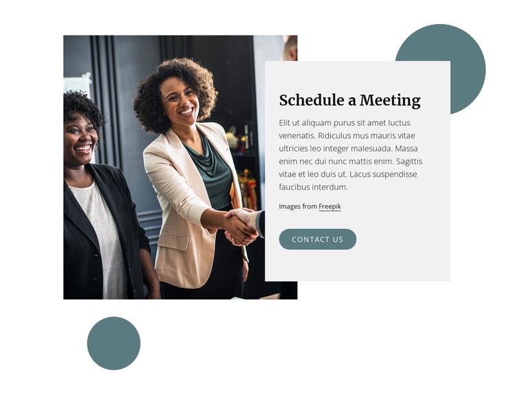 Shedule a meeting Joomla Template