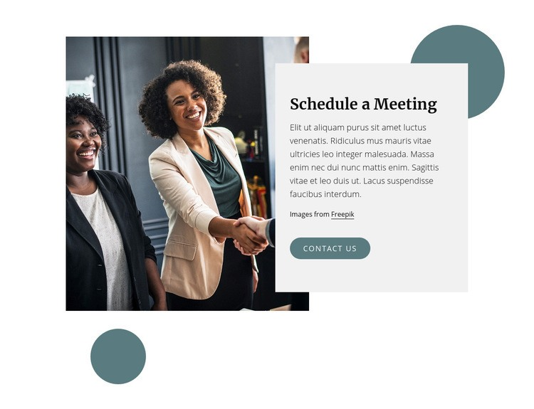 Shedule a meeting Web Page Design