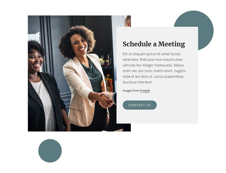 Shedule a meeting WordPress Theme