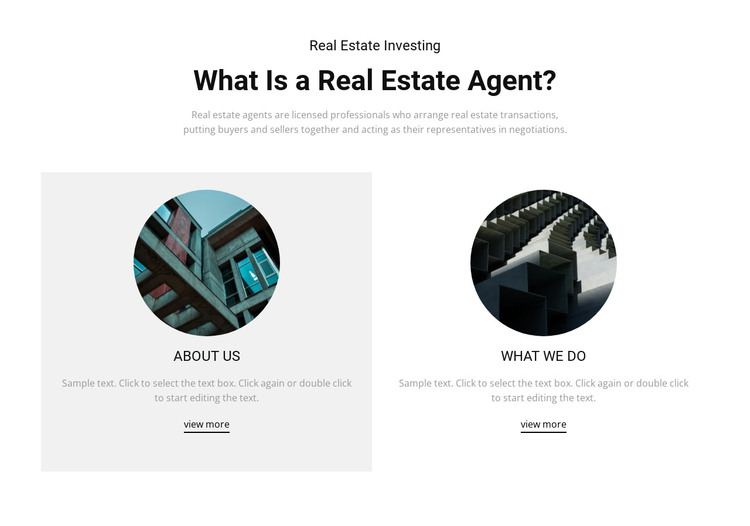 Business real estate agent HTML Template