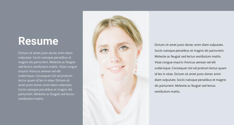 Cosmetologist's resume Html Website Builder