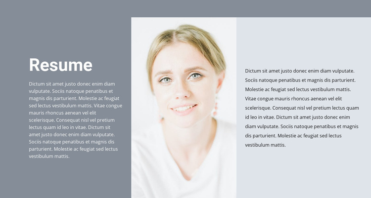 Cosmetologist's resume Website Template