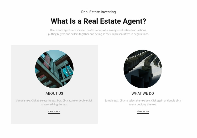 Business real estate agent Website Template