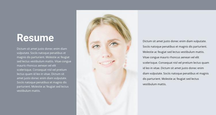 Cosmetologist's resume Woocommerce Theme