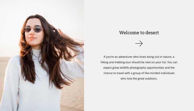 Desert guide Web Page Designer