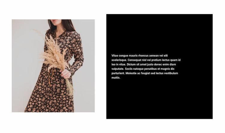 Trendy dresses Website Template