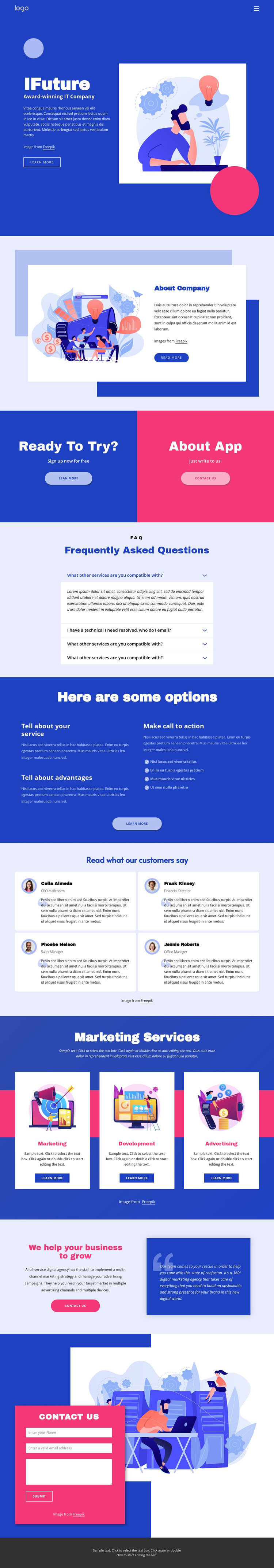 IT solutions and marketing Joomla Template