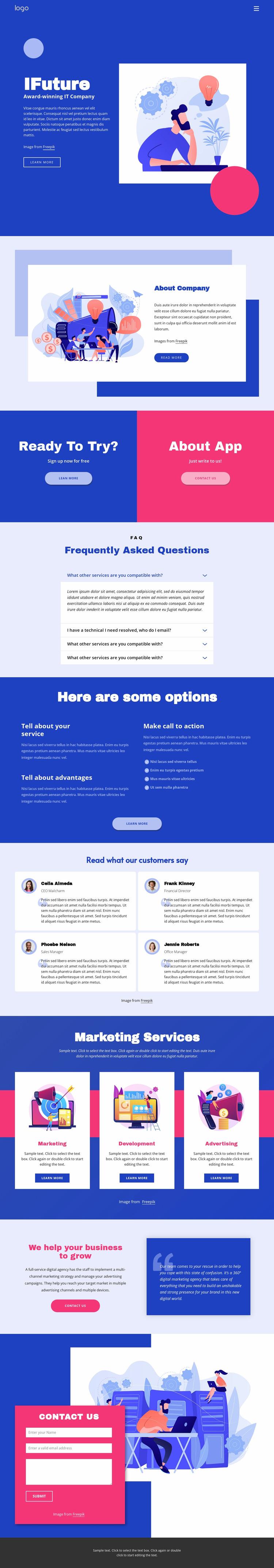 IT solutions and marketing WordPress Website Builder