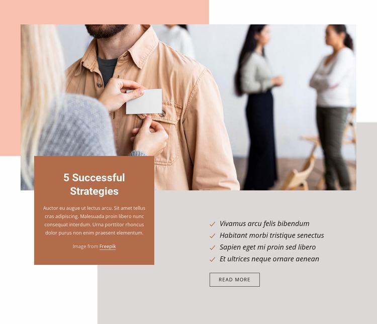 5 Successful strategies Website Mockup