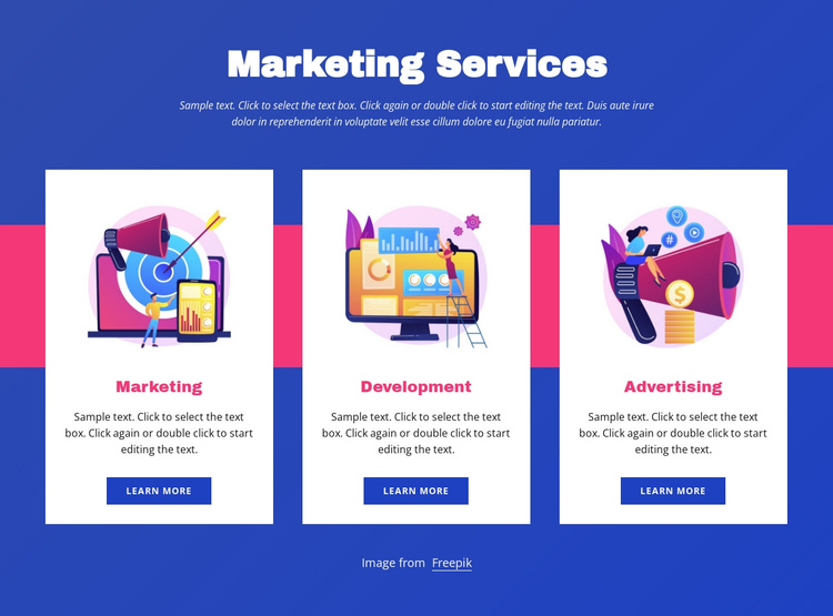Marketing services One Page Template