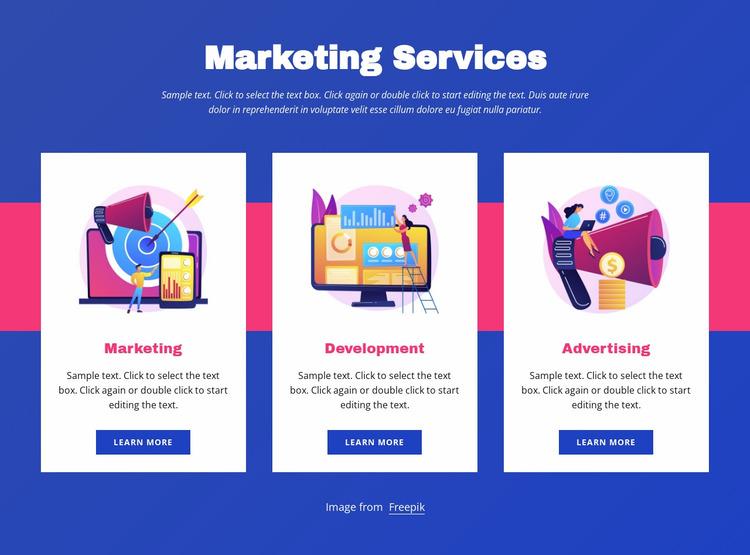 Marketing services Website Mockup