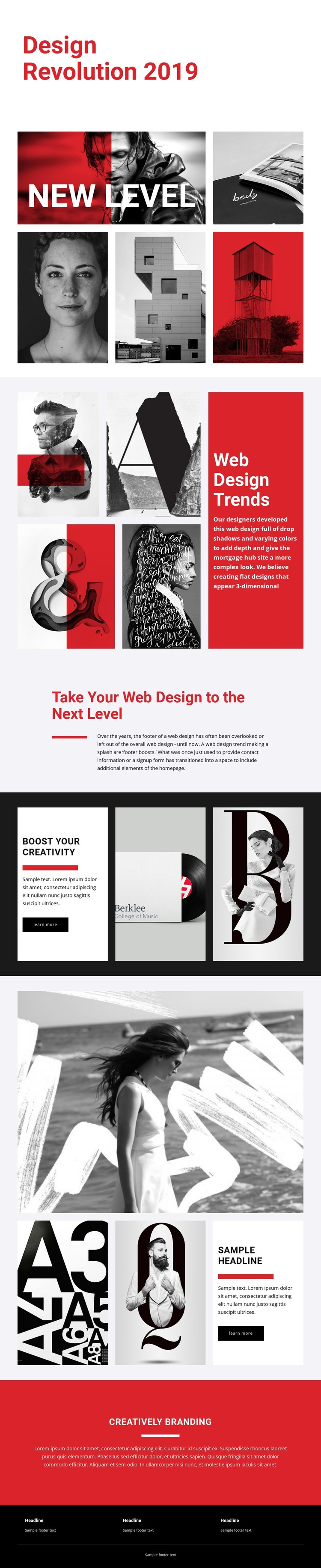 Revolution of designing art CSS Template