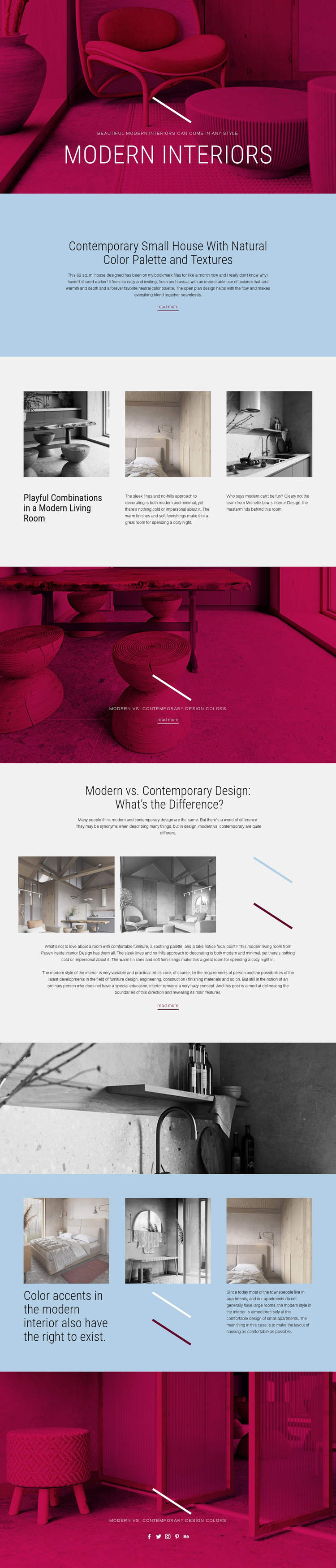 Art Nouveau furniture Website Maker