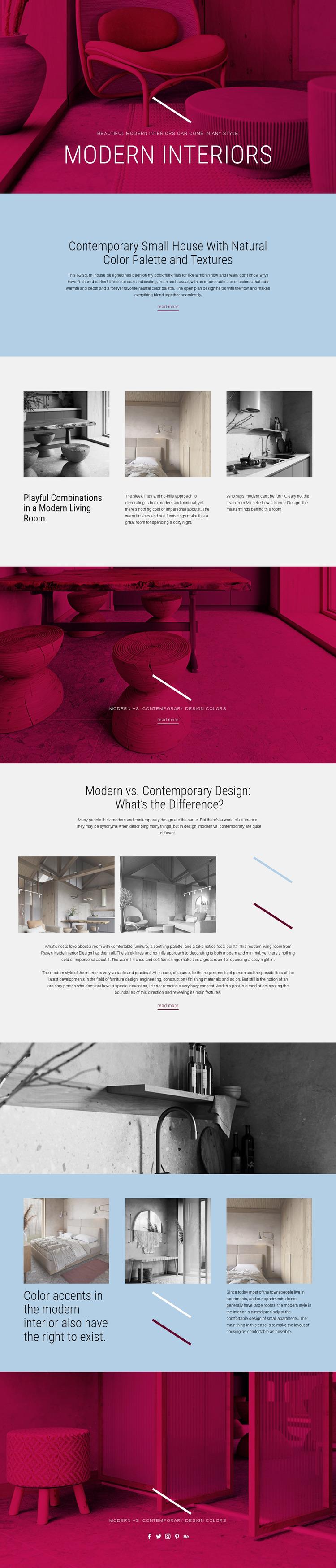 Art Nouveau furniture Website Mockup
