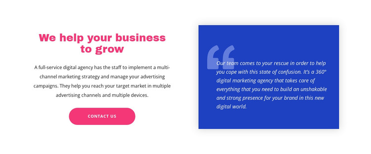 Quote on background and text WordPress Theme