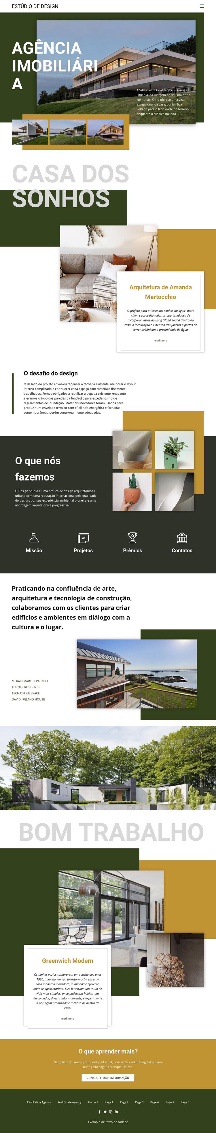 Agência imobiliária de sonho Tema WordPress