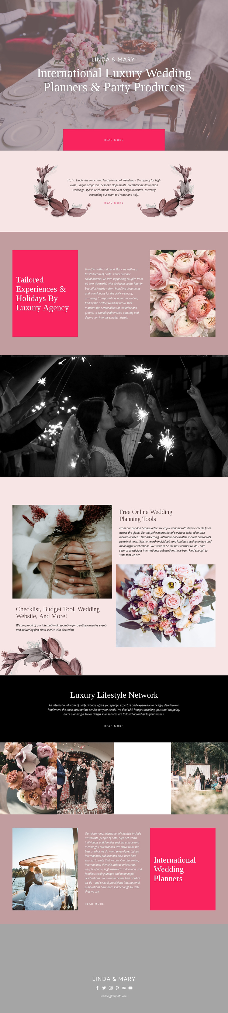 Luxury Wedding One Page Template