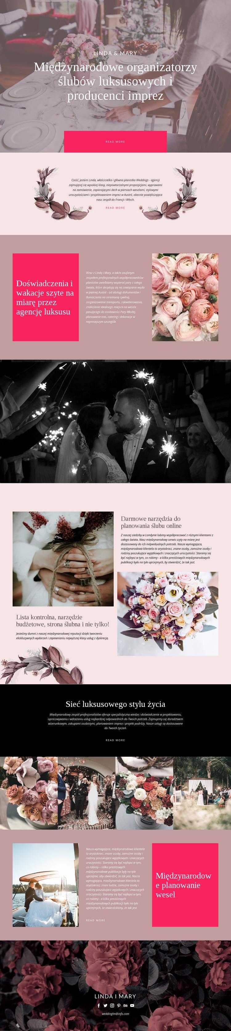 Luksusowy ślub Szablon Joomla