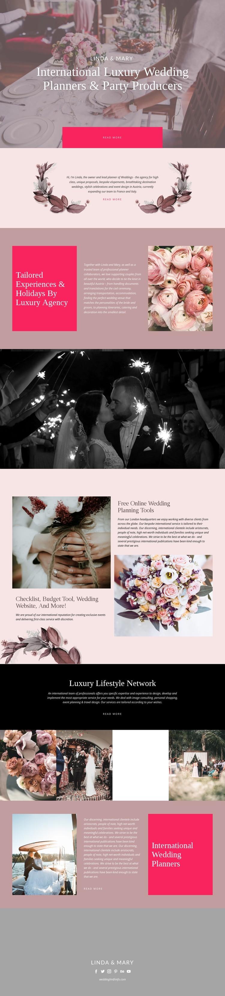 Luxury Wedding Static Site Generator