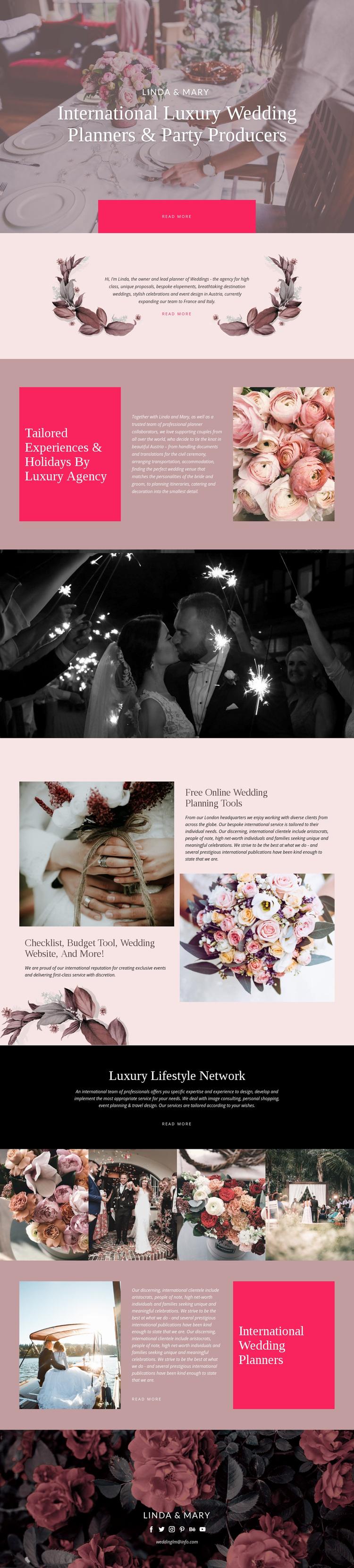 Luxury Wedding Web Page Designer