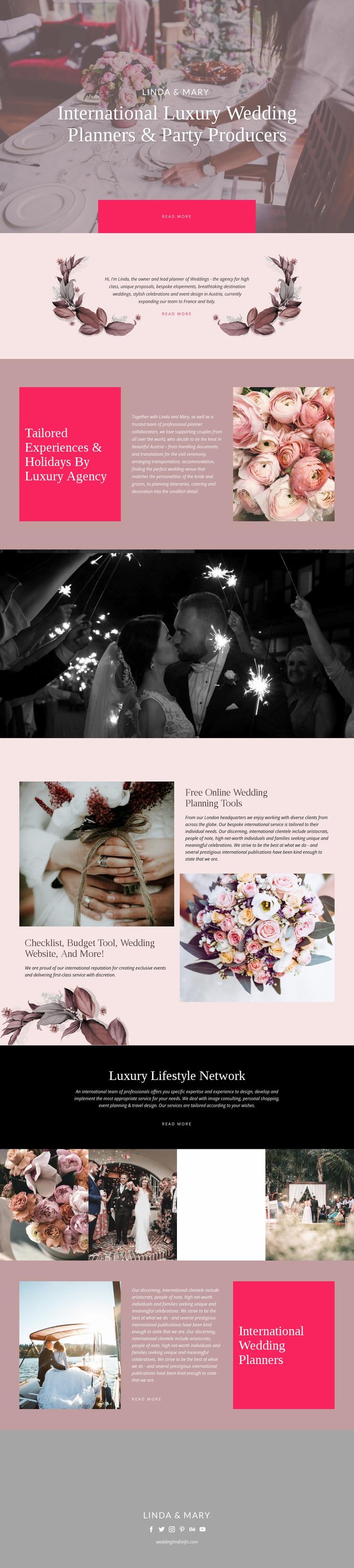 Luxury Wedding Website Mockup