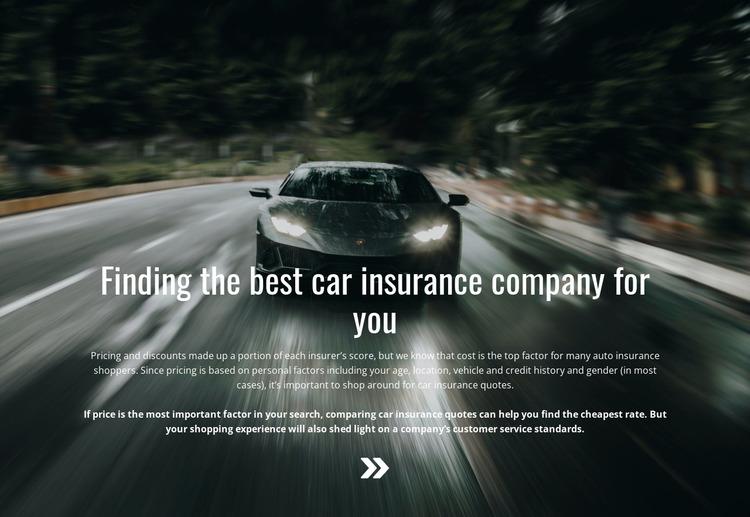 Insurance for your car Html Website Builder