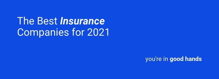 Reliable insurance Web Page Design