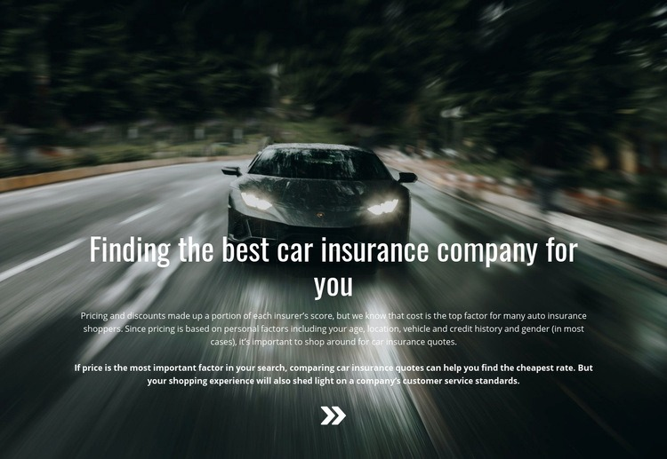 Insurance for your car Web Page Designer