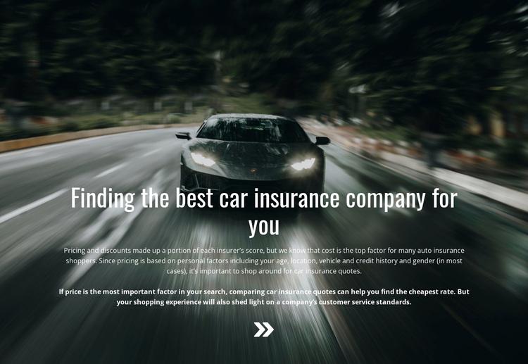 Insurance for your car Website Design
