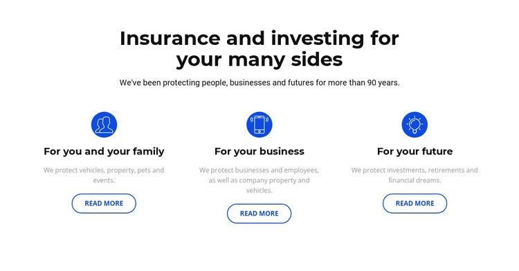 Insurance and investment Html Code Example