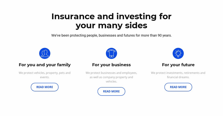 Insurance and investment Html Website Builder