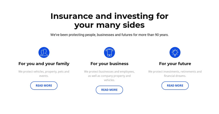 Insurance and investment HTML5 Template